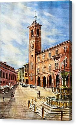 A View From Fabriano Canvas Print