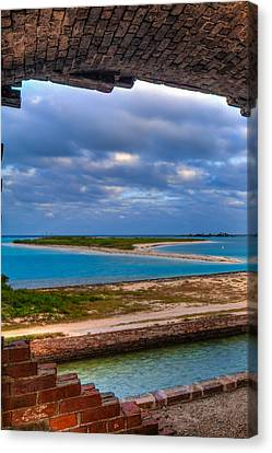 National Parks Canvas Print - A View From Fort Jefferson by Andres Leon