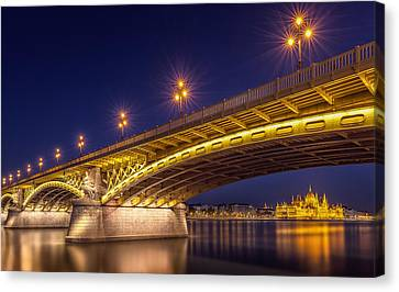 A View Of Budapest Canvas Print by Thomas D M?rkeberg