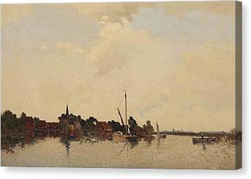 A View Of Eernwoude Canvas Print by Egnatius Ydema