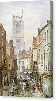 A View Of Irongate Canvas Print by Louise J Rayner