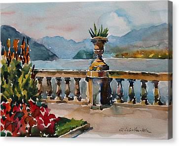 A View Of Lago Di Como At Bellagio Canvas Print