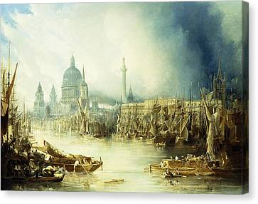 A View Of London Canvas Print by John Gendall