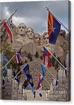 A View Of Mt. Rushmore Canvas Print by Robert Pilkington
