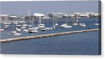 A View Of Navy Pier Canvas Print