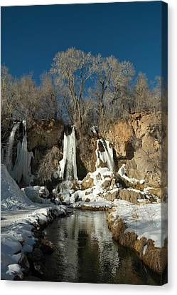 Ice Formations Canvas Print - A View Of Rifle Falls by Jeff Swan