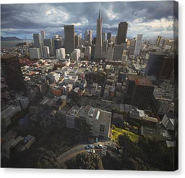 A View Of San Francisco Canvas Print by TJ Mueller