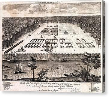 A View Of Savannah, Georgia As It Stood Canvas Print by Everett