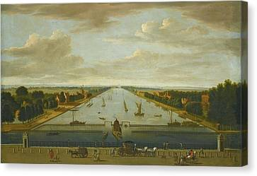 A View Of The Amstel From The Hogesluis Facing South Canvas Print