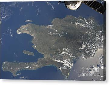 A View Of The Caribbean Island Canvas Print