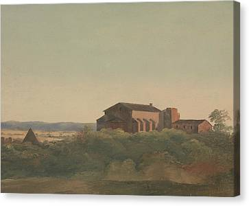 A View Of The Church Of S. Sabina And The Pyramid Of Cestius, Rome Canvas Print