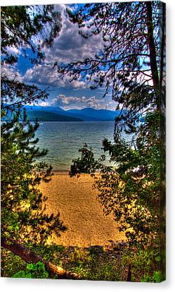 A View Of The Lake Canvas Print