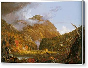 A View Of The Mountain Pass Called The Notch Of The White Mountains Canvas Print by Thomas Cole