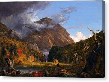 A View Of The Mountain Pass Called The Notch Of The White Mountans  Canvas Print