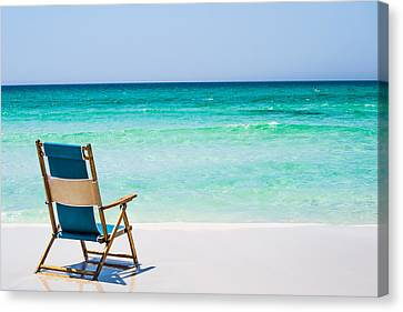 A View Of The Ocean Canvas Print by Shelby  Young