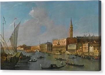 A View Of The Palazzo Ducale  Canvas Print