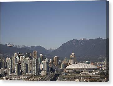 A View Of The Skyline Of Vancouver, Bc Canvas Print by Taylor S. Kennedy