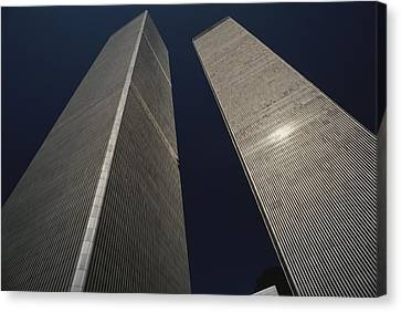 Punishment Canvas Print - A View Of The Twin Towers Of The World by Roy Gumpel