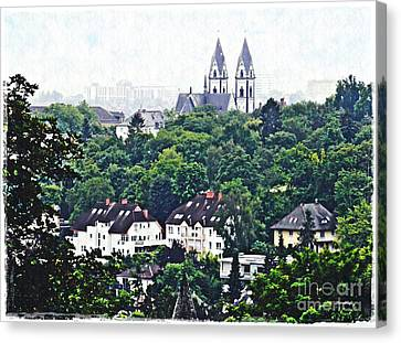 A View Of Wiesbaden Canvas Print by Sarah Loft