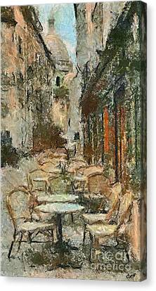 A View On The Sacre Coeur Canvas Print