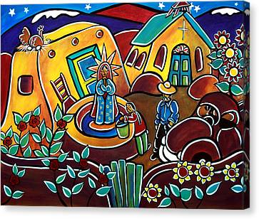 A Village For Our Lady Canvas Print