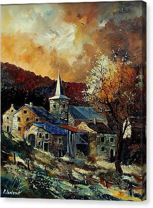 A Village In Autumn Canvas Print by Pol Ledent