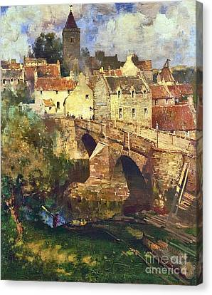 A Village In East Linton Canvas Print by MotionAge Designs