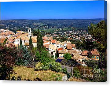 Canvas Print featuring the photograph A Village In Provence by Olivier Le Queinec