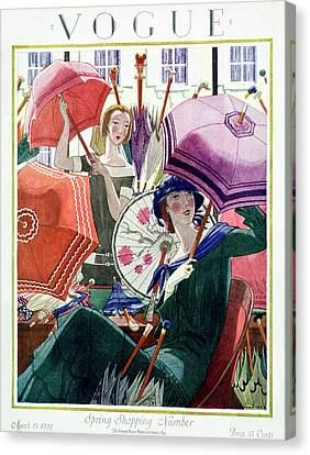 A Vintage Vogue Magazine Cover From 1924 Canvas Print by Pierre Brissaud