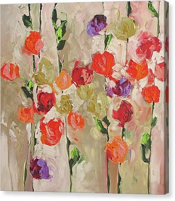 A Violet Kind Of Feeling Canvas Print by Linda Monfort