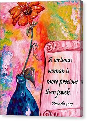 A Virtuous Woman Canvas Print by Eloise Schneider