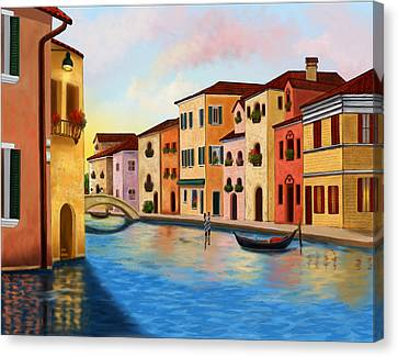 A Vision Of Venice Canvas Print