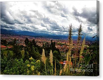A Vista Of Cuenca From The Autopista Canvas Print by Al Bourassa