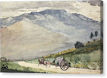 A Volante On A Mountain Road Cuba Canvas Print by Winslow Homer