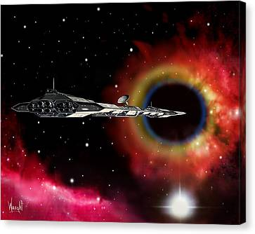 A Voyage Through Space And Time Canvas Print by Bill Wright