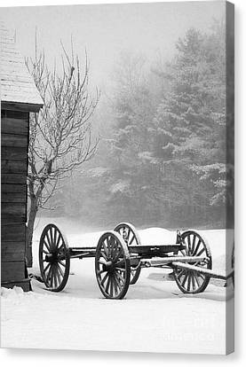 A Wagon In Winter Canvas Print