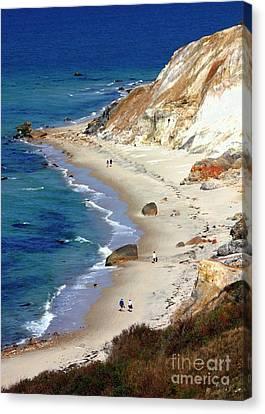 A Walk Along Aquinnah Beach Canvas Print by Carol Groenen