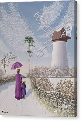 A Walk By The Mill Canvas Print