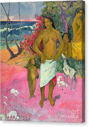 A Walk By The Sea Canvas Print by Paul Gauguin