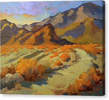 A Walk In La Quinta Cove Canvas Print by Diane McClary