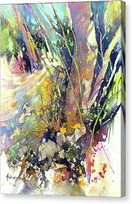A Walk In The Forest Canvas Print by Rae Andrews
