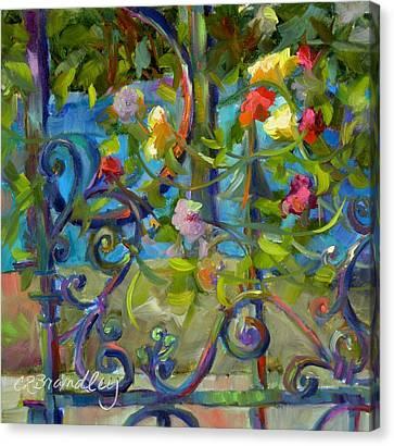 A Walk In The Garden Canvas Print by Chris Brandley