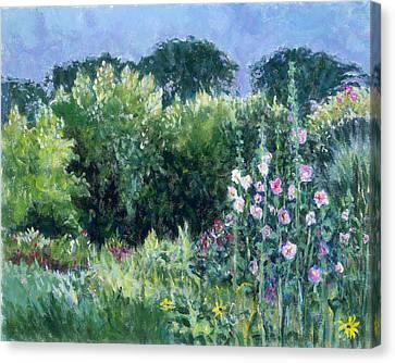 A Walk In The Garden Canvas Print by Tara Moorman