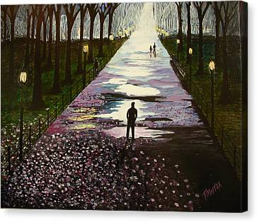 A Walk In The Park Canvas Print by Tim Mattox