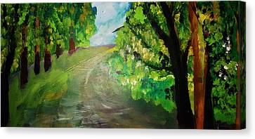 Inner World Canvas Print - A Walk In The Woods by Madina Kanunova