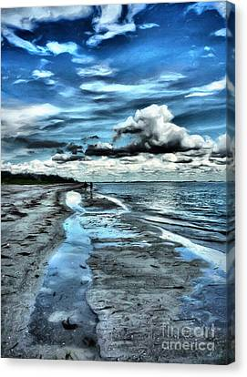 A Walk On The Beach Canvas Print by Jeff Breiman