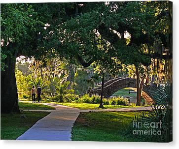 A Walk Though The Park Canvas Print
