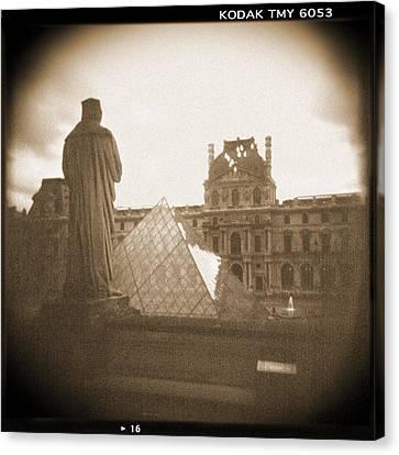 Holga Camera Canvas Print - A Walk Through Paris 16 by Mike McGlothlen