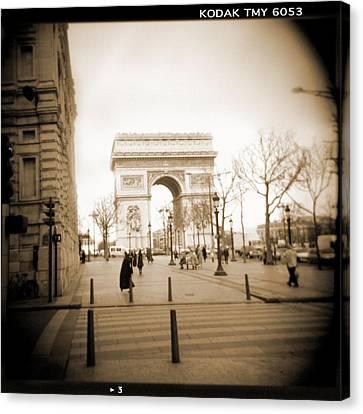 Holga Camera Canvas Print - A Walk Through Paris 3 by Mike McGlothlen