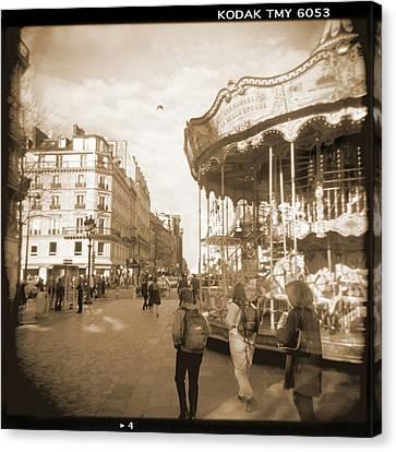 Holga Camera Canvas Print - A Walk Through Paris 4 by Mike McGlothlen